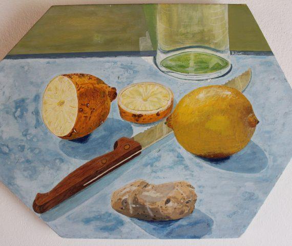 Glas Brotmesser Zitronen Erdapfel